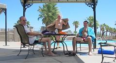 July 23, 2014 (33/365+3) (gaymay) Tags: california gay portrait love pool happy desert palmsprings swimmingpool triad