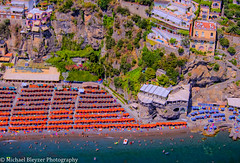 Amalfi Coast (mbfirefly) Tags: people beach colors beautiful beauty boats amalficoast aerial helicopter positano itali aerialphotography hdr hdri ubrellas handheldhdr handheldhdrfromhelicopter 5fhdr