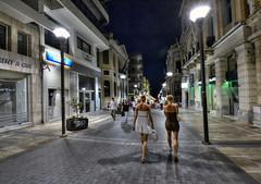 Night street (ogawa san) Tags: street greek aegean greece crete heraklion