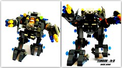 TEMUJIN mv-II  metal armor (peter-ray) Tags: mobile robot lego space awesome hard suit armor suite mecha mech moc hardsuit