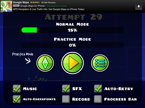 Geometry Dash Pause Menu: screenshots, UI
