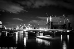 London Chelsea-86.jpg (The Seer2011) Tags: lighting street city blackandwhite london monochrome night construction chelsea citylife streetphotography railway lighttrails nightscene barttersea nikond7000