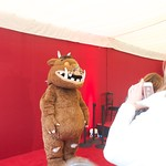 Gruffalo posing for pics at the Edinburgh International Book Festival
