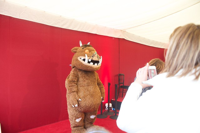 Gruffalo posing for pics at the Edinburgh International Book Festival