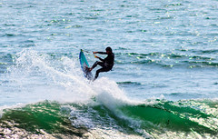 Jump (sbisson) Tags: ocean california sea santacruz kite beach coast surf waves pacific surfer wave kitesurfing beaches coastline davenport californiacoast kitesurfer