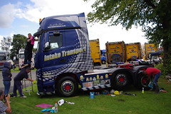 Intake Transport Mercedes Actros YX14XHN getting polished at Truckfest Scotland 2014 (andyflyer) Tags: transport lorry truk haulage truckfest hgv actros mercedesactros roadhaulage wgaon truckfestscotland intaketransport truckfest2014 truckfestscotland2014 yx14xhn 2014truckfest
