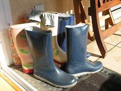 some of my wellies (yvonne_2.0) Tags: socks mine yvonne dirty wellies smelly gummistiefel gumboots rainboots laarzen schmutzig strümpfe regenstiefel