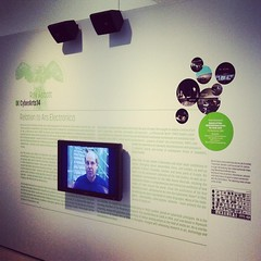 Roy Ascott exhibition at OK #cyberarts2014 #arselectronica #Linz