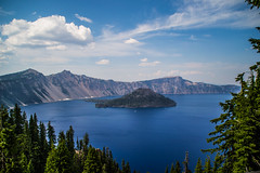 Wizard Island and Llao Rock (vynsane) Tags: oregon volcano caldera craterlake wizardisland craterlakenationalpark llao llaorock findyourpark