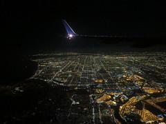 Night view of Los Angeles from the air (John Steedman) Tags: california usa america losangeles unitedstates unitedstatesofamerica northamerica estadosunidos 美國 norteamérica nordamerika amériquedunord américadelnorte 北アメリカ カリフォルニア州 アメリカ合衆国 加利福尼亚州 北美洲