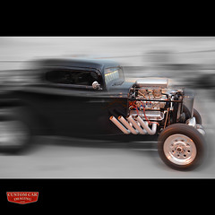 Open Pipes (murraywoodphoto) Tags: street motion hot classic ford 1932 pipes american rod coupe supercharged blown 3window