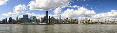 New York City Pano (kidcisco) Tags: nyc newyorkcity panorama skyline cityscape manhattan panoramic queens eastriver lic longislandcity