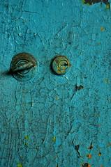 Locked Away (sunflowers&bubbletea) Tags: old blue abandoned taiwan locker aged tainan keyhole  chippedpaint      nikond90   tendrumculturevillage sunflowersbubbletea rendesugarrefinery