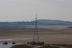 400 KV Pylon stabilisation works on the afon Dwyryd  Penrhyndeudraeth September 17 2014 (Martin Pritchard) Tags: pylon 400 works kv hochtief afon bont penrhyndeudraeth stabilisation dwyryd briwet