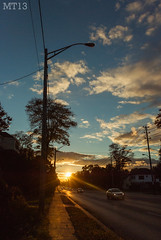 Orange And Blue (23/10/2013) (Matthew Trevithick Photography) Tags: street sunset orange ontario canada london cars october streetlight afternoon traffic matthew pavement stones vibrant illuminated hydro wires oxford colourful trevithick 2013 matthewtrevithick mtphotography