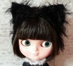 Lucky Black kitty Headband