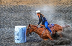 Women's Barrel Racing (Ken Yuel Photography) Tags: ladies horses cowboys racing denim bluejeans cowgirls stampede cowboyhats ranching rodeos barrelracing exploremanitoba tightbluejeans travelmanitoba morrismanitoba kenyuel womensbarrelracing rodeoladies
