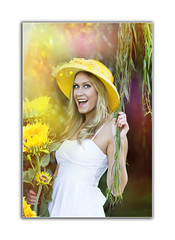 IMG_ab3961 1 (TJ Boarman) Tags: portrait woman flower beauty sunshine yellow lady outdoor blonde canondslr strobist canon580 canon7d sigma85f14