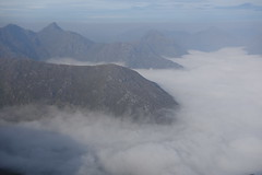 Cloud at the foot of Sgurr na Ciche. From Sgurr Mor, 12th September '14 (Hazel Strachan) Tags: mountains clouds scotland munros arkaig