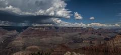 Grand Canyon (Nick Roth) Tags: arizona panorama rain clouds grandcanyon grand canyon