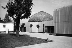 Lomo 135VS - Brno Observatory and Planetarium 2 (Kojotisko) Tags: blackandwhite bw lomo czech brno cc creativecommons vintagecamera czechrepublic lomo135bc  lomo135vs agfaphotoapxpan100 agfaphotoapxpan 135