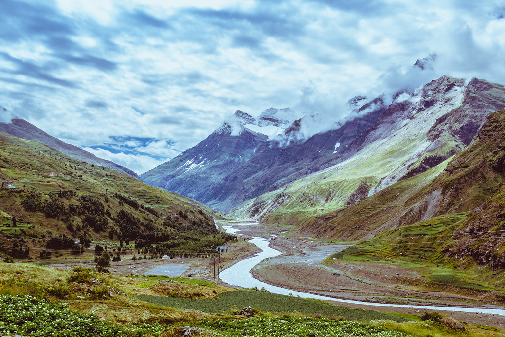road india mountains nature clouds river landscape highway delete hills leh manali himalyas