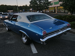 IMGP1527DL Classic car at dusk (shutterbroke) Tags: classic 1969 car pentax dusk chevelle optio wg10 shutterbroke