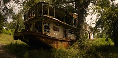 Mamie S. Barrett (SkylerBrown) Tags: usa tree abandoned broken river mississippi dark boat scary rust louisiana rustic ruin haunted creepy spooky swamp destroyed urbex