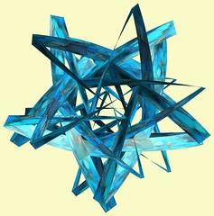 5 Crossing square-tori /  (TANAKA Juuyoh ()) Tags: texture design 3d code cg pattern graphic structure symmetry figure program torus mapping algorithm mathematica   abstruct        parametricplot3d