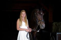 Hailey (nevadoyerupaja) Tags: portrait horse usa white girl female barn grid model nikon dress hailey shed indoors wyoming speedlight softbox strobe tack pocketwizard strobist sb900 sb700