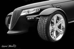 Chrysler LowKey Attack (meepeachii) Tags: auto bw cars closeup oldtimer sw chrysler autos lowkey schwarz uscars