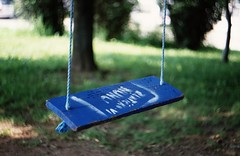 Praktica MTL5 + Helios-44M-4 - Blue Swing (Kojotisko) Tags: vintage brno cc creativecommons vintagecamera czechrepublic helios44m4 prakticamtl5 prakticamtl helios44m4258