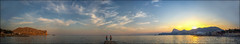 Судакская бухта (s7753191e) Tags: закат отдых россия крым море луна пирс судак