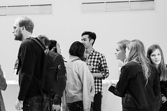 White and Emptiness at Unit 24 - Private View (munhitsu) Tags: uk london art europa europe unitedkingdom what anglia privateview londyn