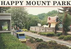 Happy Mount Park Miniature Railway, Morecambe (trainsandstuff) Tags: miniaturerailway train railway postcard happymountpark morecambe vintage retro archival oldpostcard old history lancashire