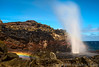 The eruption of Nakalele Blowhole in Maui. (Jampham) Tags: water lava high rainbow colorful shoot natural crash famous north explosion large landmark maui icon geyser northern westcoast volcanic geysir eruption touristattraction rugged crashing rockformation nakaleleblowhole nakalelepoint poundingsurf