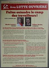 Mireille Lambert (emmanuelsaussieraffiches) Tags: poster political politique affiche lutteouvrire