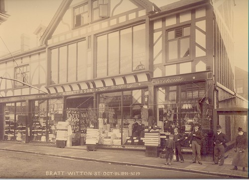 Henry Bratt & Son, general drapers & outfitters, milliners & carpet factors, 2-4 Witton Street – 1891