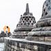 Borobudur - the orange umbrella