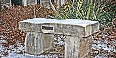 Stone Bench (richardf957) Tags: richardf957 rfphotography richardf stone bench tranquil snow stcatharines 52saturdays hdr