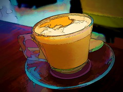 Happy Purim! (Mike Goldberg) Tags: coffee cup glass canong16 effects jerusalem holiday purim mikegoldberg