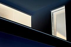night lihgts (claredlgm1) Tags: windows lights blue dark architecture balcony door night building detail