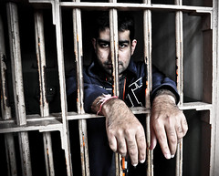 Behind bars (atitsince82) Tags: sanfrancisco house man metal bar danger court island justice gangster dangerous iron steel guard gang evil sanjose police cage prison cop jail rod alcatraz behind society mischief serving alcapone sentence prisoner norm deadly jailhouse notorious policing ilobsterit