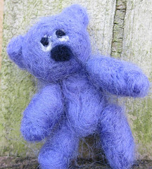 Little needle felted bear for blythe