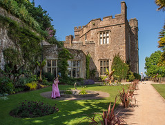 The gardens of Dunster Castle in Somerset (Anguskirk) Tags: uk england castle gardens nt lawn eu somerset nationaltrust dunster flowerbeds fountai