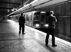 Metro (CNorthExplores) Tags: california travel bw white black train losangeles metro explored