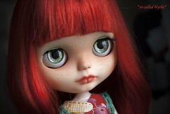 Poppy <3 (*SO-CALLED BLYTHE* by so-called anna) Tags: redhead poppy freckles custom redhaired rbl socalledblythe custombysocalledanna tblblythe artlids