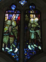 Angelic musicians, Beauchamp Chapel, Warwick (Aidan McRae Thomson) Tags: church window stainedglass medieval angels warwick warwickshire beauchampchapel warwickstmary
