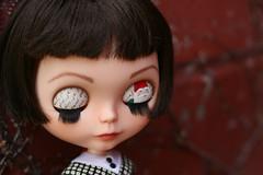 Amélie awesomeness (*phillaine*) Tags: art gnome eyes doll sleepy amelie letter blythe custom eyelid amélie