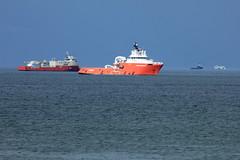 (roger g1) Tags: blue sea boats scotland ships aberdeen oil